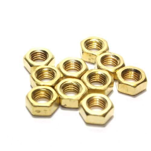 M5 Solid Brass Hex Full Nuts various Pack Size